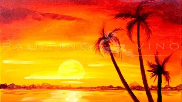 Family of Palm Trees - Fun Paint and Sip Event