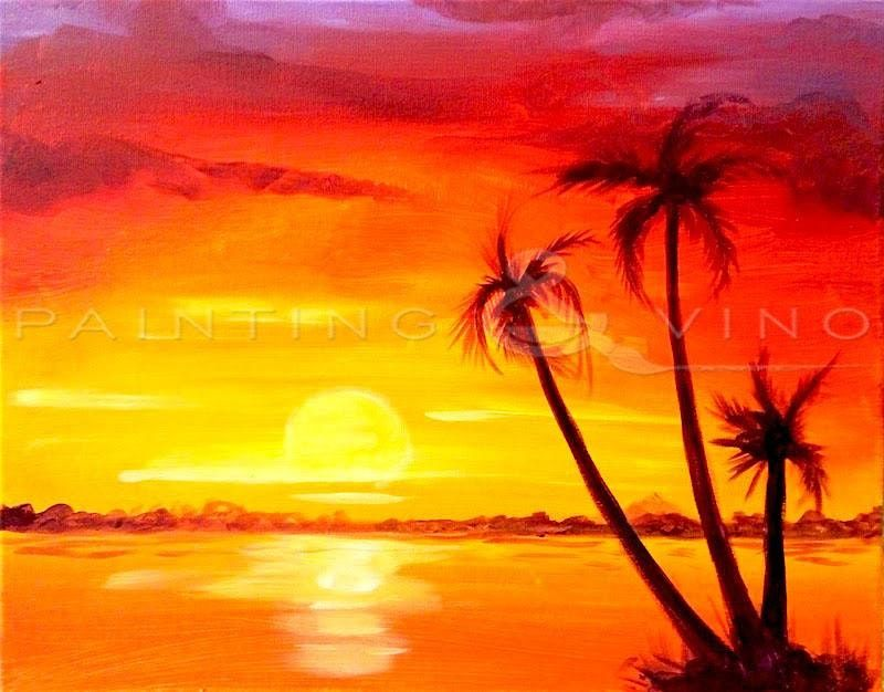 Family of Palm Trees – Fun Paint and Sip Event