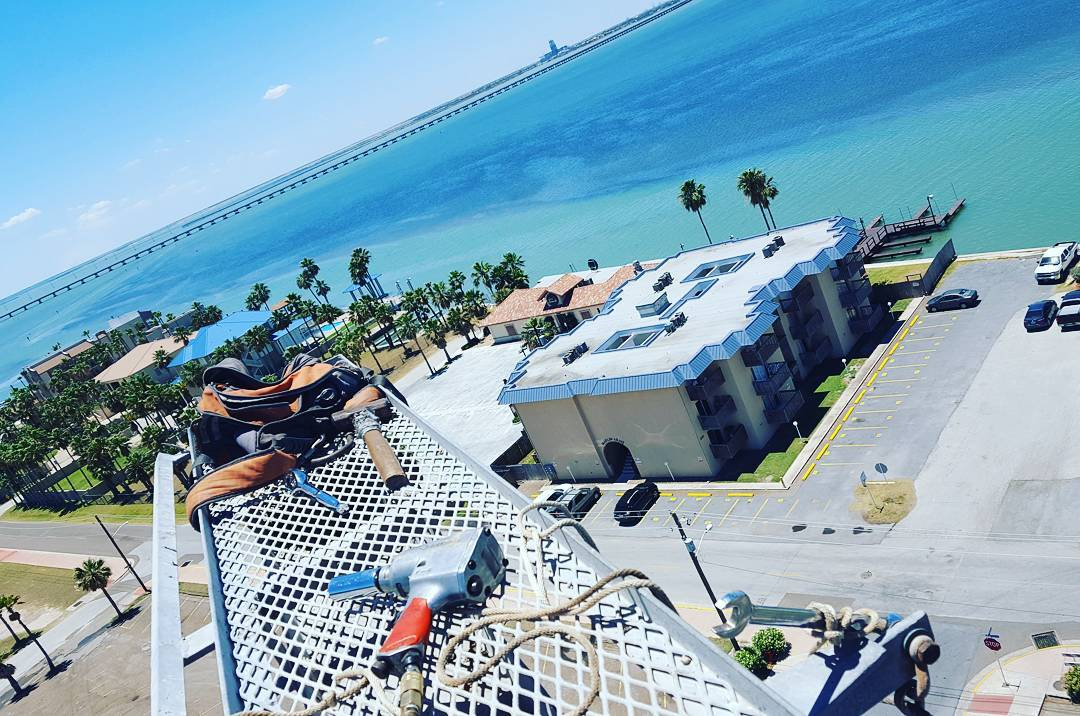 View from work today.  #SouthPadre #LagunaMadre…