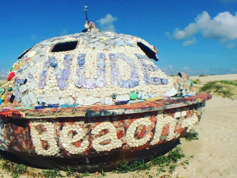 Found the Nude Beach sign at  South Padre Island but didn't go, I guess next time…