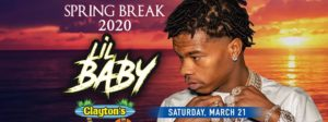 LIL BABY LIVE IN CONCERT | CLAYTONS BEACH BAR
