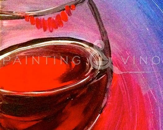 """Acrylic Painting Class - """"Wine Lips"""" at Beachside Bar and Grill, South Padre Island"""