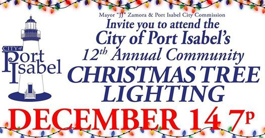 Christmas Tree Lighting Ceremony ~ You Are Invited at Port Isabel Public Library, Port Isabel