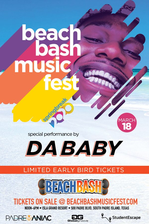 DA BABY Confirmed for March 18th in South Padre Island
