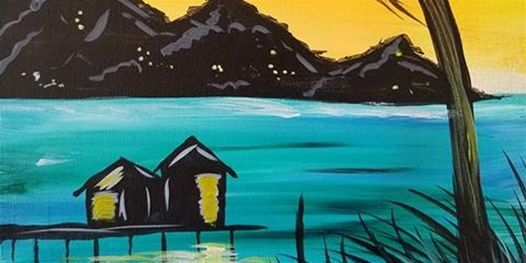 """Tropical Beach Painting Session - """"Escape to Tahiti"""" at Beachside Bar and Grill, South Padre Island"""