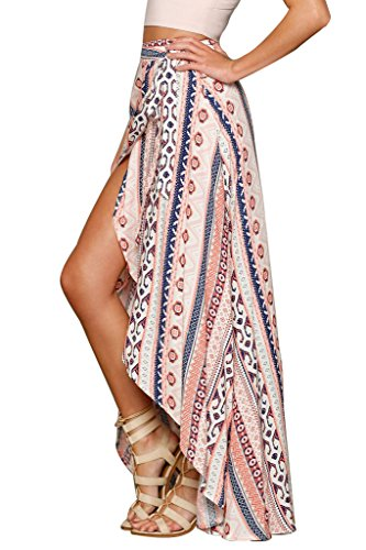 HOTAPEI Womens Summer Swimsuit Maxi Skirt Wrapped Beach Cover up Dress, Multicolord, One Size