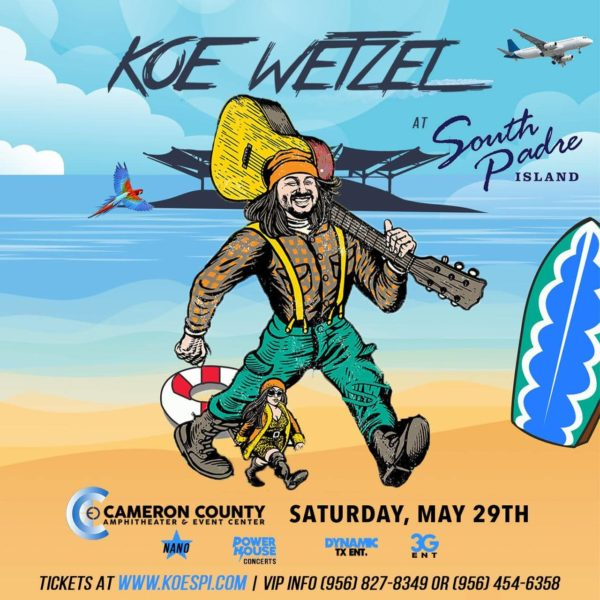 Koe Wetzel Live in Concert May 29th!